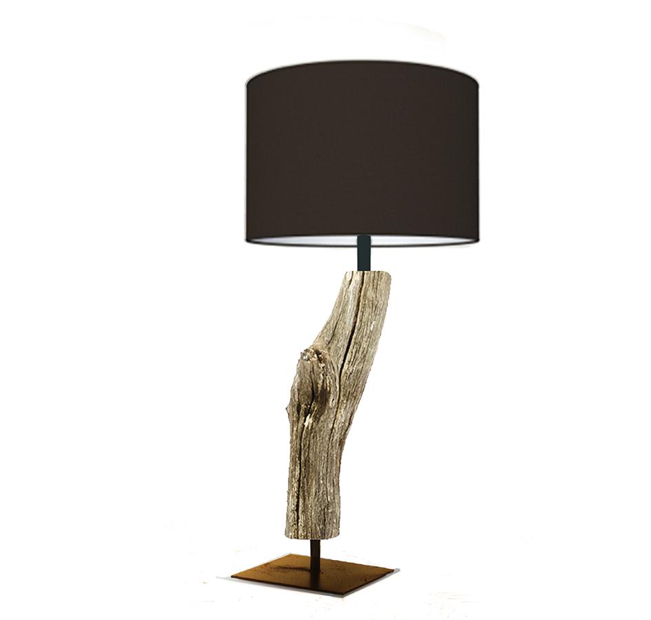 Devonta | houten boomstronk | Tafellamp - ThomasWood