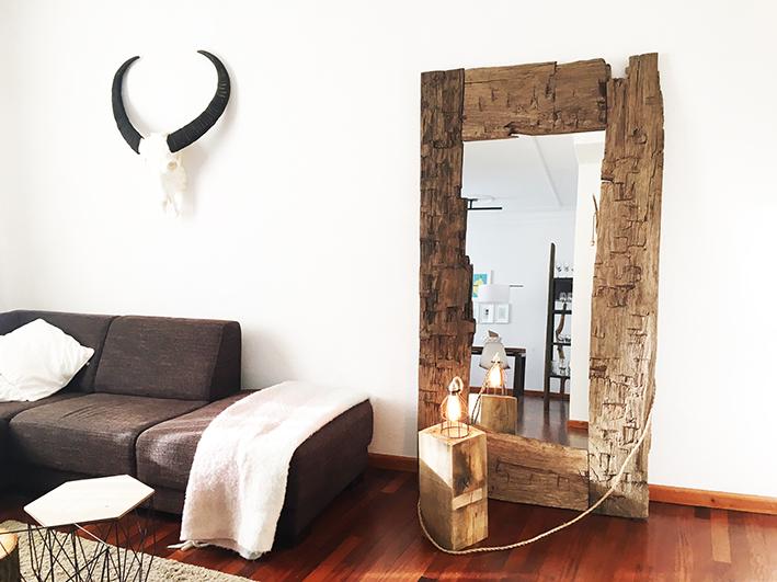 Finest beroemd specchio houten staande spiegel thomaswood for Passpiegel blokker