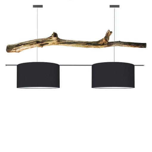 houten hanglamp zwart