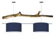 houten hanglamp denim blauw