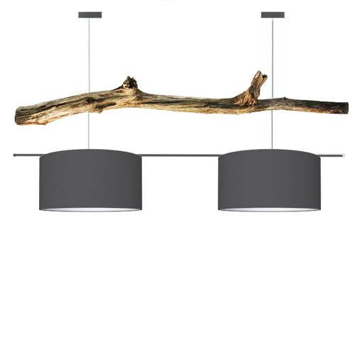 houten hanglamp donker grijs