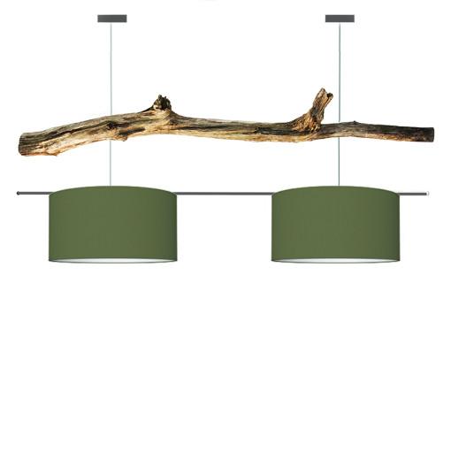 houten hanglamp groen