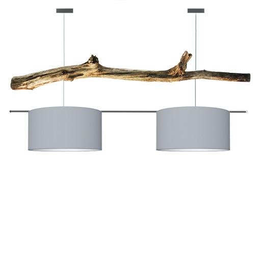 houten hanglamp licht grijs