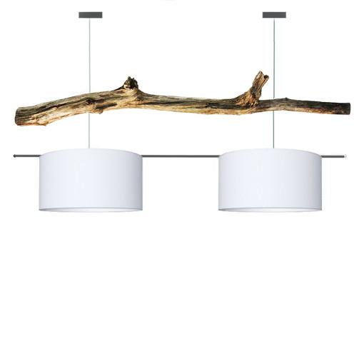houten hanglamp pure white