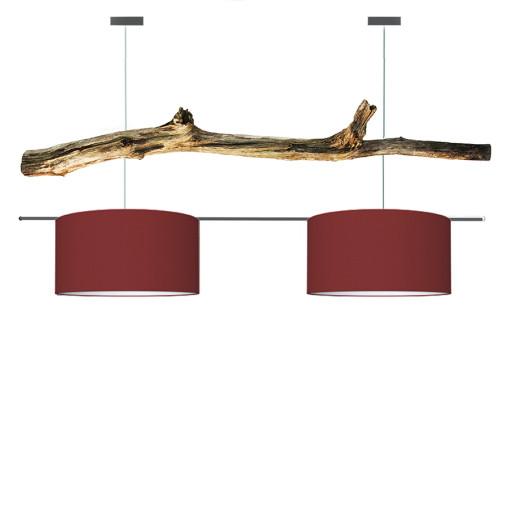 houten hanglamp red