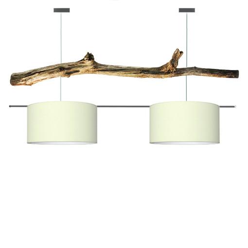 houten hanglamp warm white