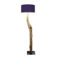 houten vloerlamp paars