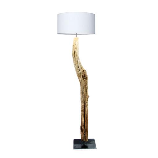 houten vloerlamp wit