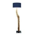 houten vloerlamp blauw