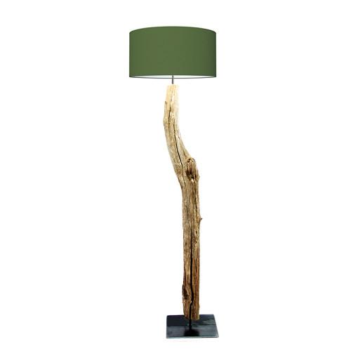 houten vloerlamp groen