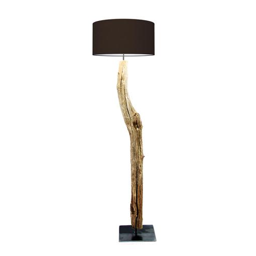 houten vloerlamp zwart