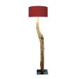 houten vloerlamp rood