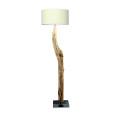 houten vloerlamp warm wit