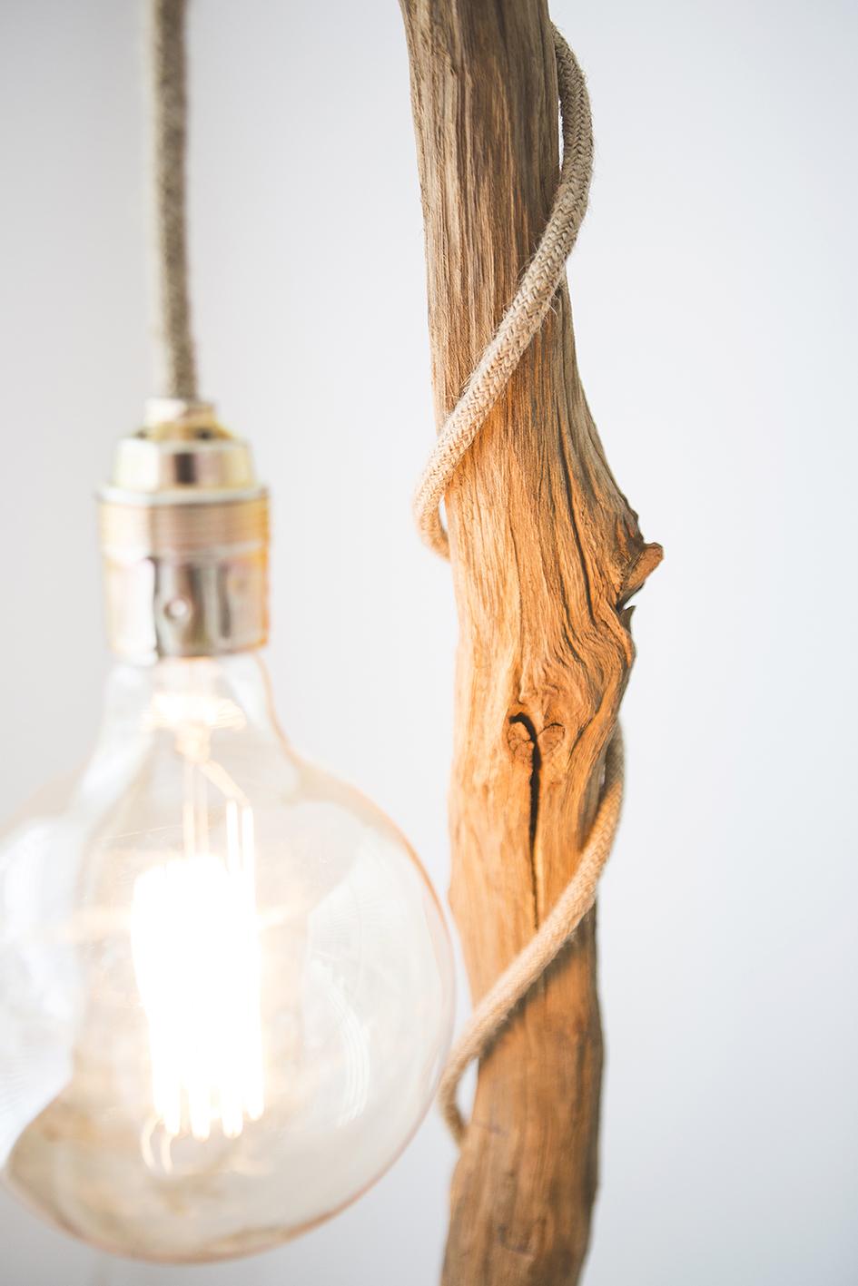 Verwonderend Apesso | Houten boomstronk vloerlamp - ThomasWood DE-06