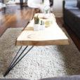 salontafel robuust met minimalistisch onderstel
