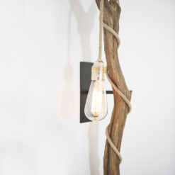 houten boomstronk wandlampen